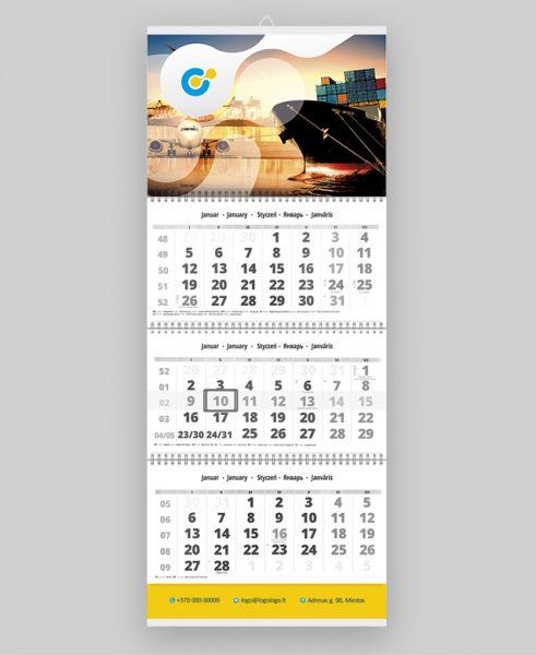 Trijų dalių sieninis kalendorius